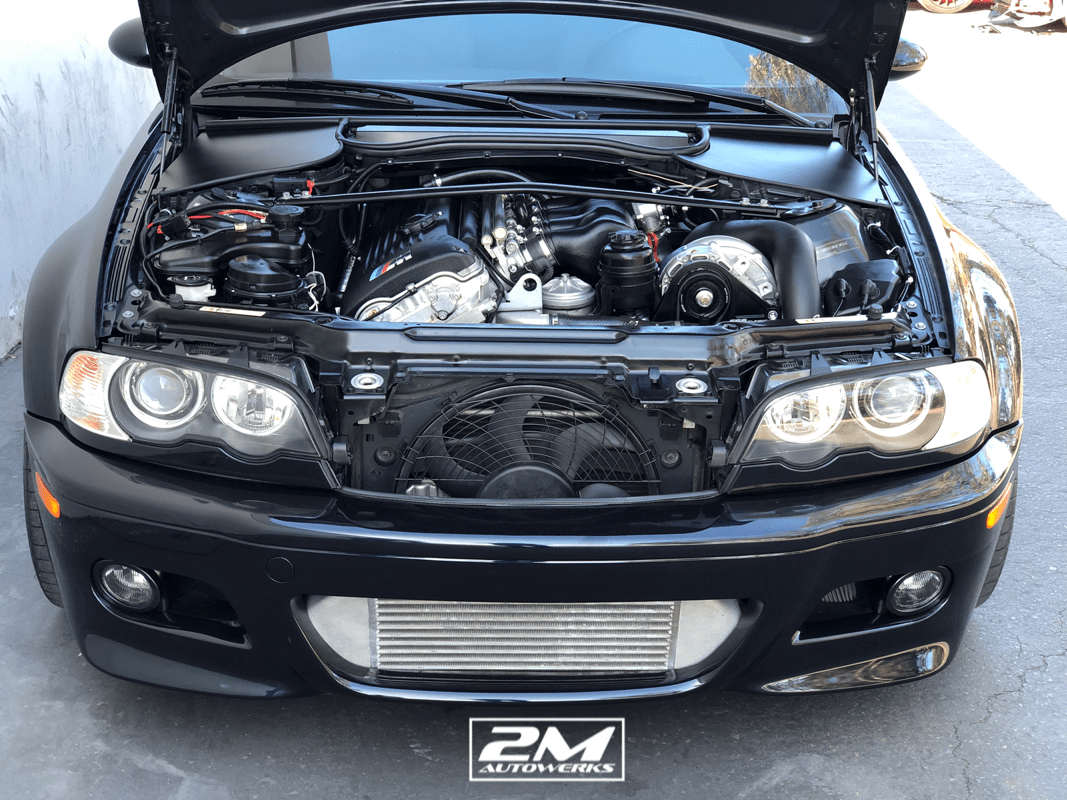 This is the perfect way to clean up your BMW E46 engine bay. Our engine bay covers are made to fit snugly along both sides of the cabin air filter unit using the factory fender bolt as a mounting point.