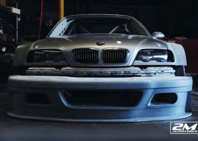 BMW E46 GTR build powered by a s85 v10